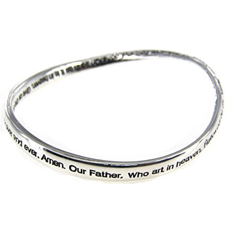 The Lord's Prayer Twisted Bangle Bracelet Our Father Christian Religious - Christian Jewelry Store