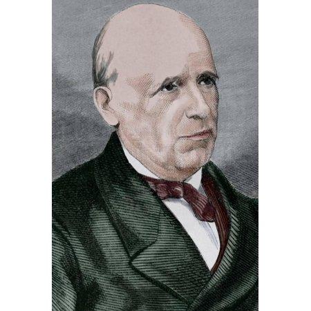 Pascual Madoz Ibanez (1806 - 1870), Spanish Politician, Statistician. Colored Engravin Print Wall Art By Tarker