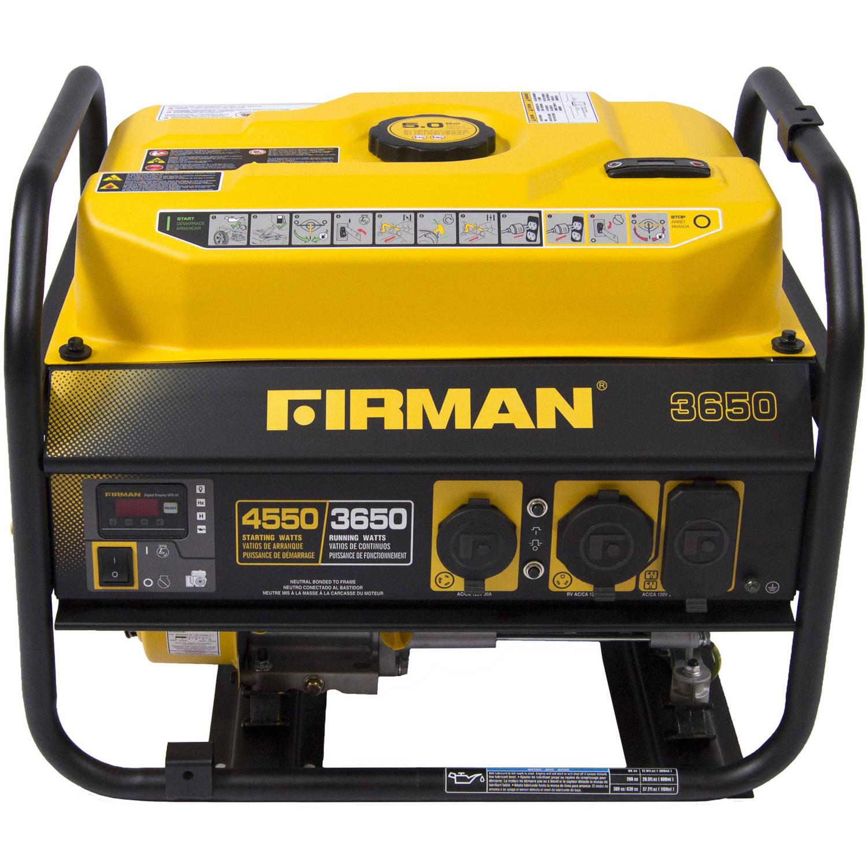 Firman Power Equipment P03601 Gas-Powered 3650 4550-Watt Portable Generator by Firman Power Equipment