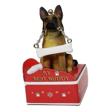 E&S Pets My Best Buddy German Shepherd with Bone Christmas