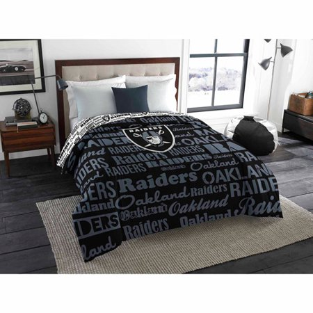 NFL Oakland Raiders Twin Full Bedding Comforter by
