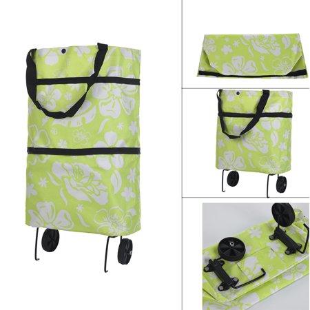 Light Weight Folding Foldable Shopping Cart Luggage Travel Bag Trolley On Wheels