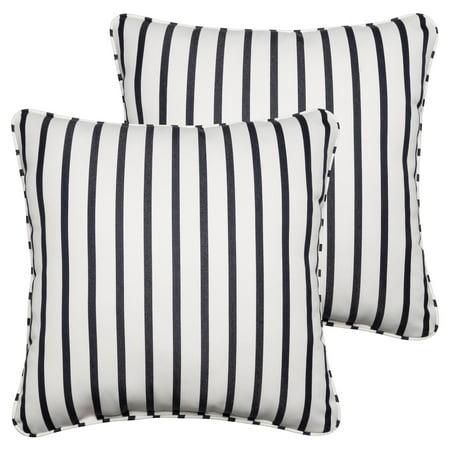 Mozaic Company Sunbrella Lido Outdoor Corded Square Pillow Set