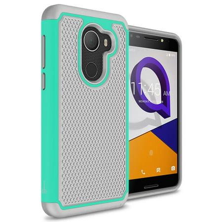 coveron alcatel a30 plus / t-mobile revvl / a30 fierce case, hexaguard series hard phone cover