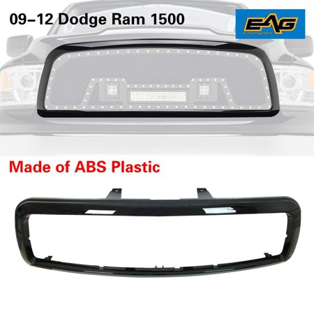 Shell Precision Grilles - EAG Black ABS Plastic Grille Shell For 09-12 Dodge Ram 1500