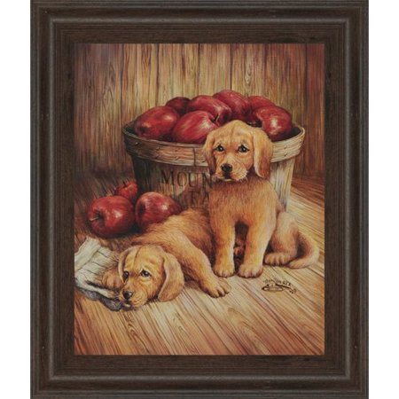 Classy Art Wholesalers Promotional Line Golden Retriever by Joy Alldredge Framed Painting Print (Craft Wholesalers)