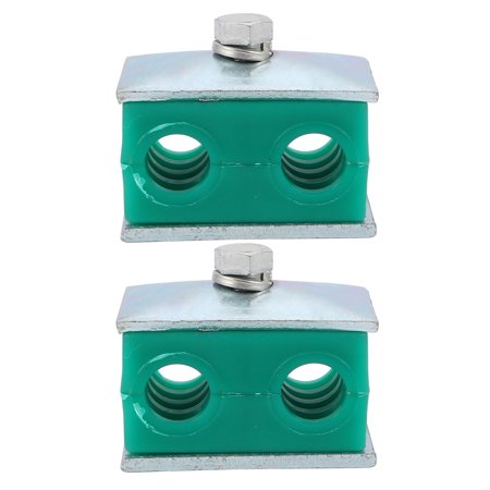 Tasharina 2 Pcs Twin Series Light Pipe Clamp Assembly Polypropylene Fit 14mm Tube - Two Light Twin Tube