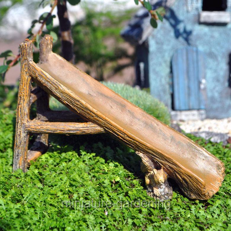 Marshall Home And Garden Tree Trunk Slide For Miniature Garden, Fairy Garden