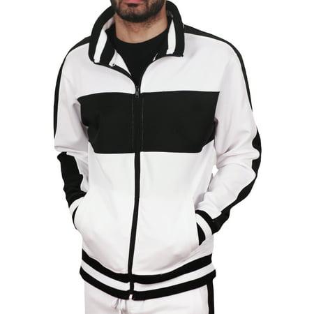 - Bleecker & Mercer Men's Color Block Track Jacket