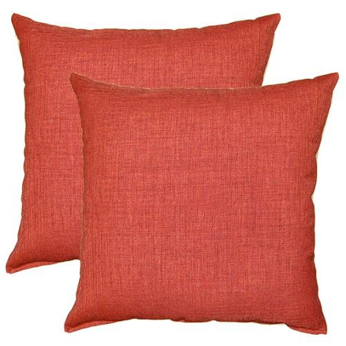 FHT Gridlock Bittersweet 17-in Throw Pillows (Set of 2)