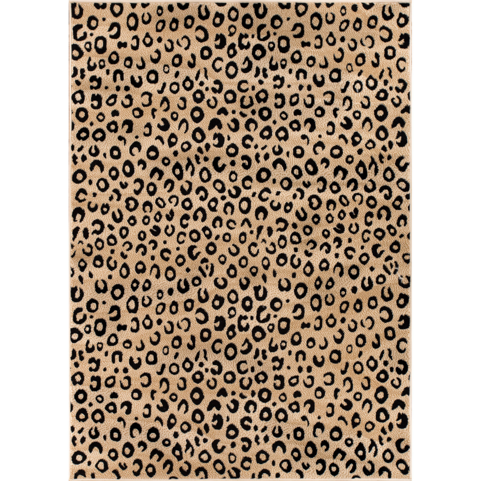Well Woven Dulcet Leopard Animal Print Area Rug, Black