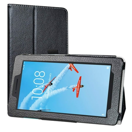 Lenovo Tab E8 Case, EpicGadget Lightweight Cover Folio PU Leather Folding Stand Case for Lenovo E8 8 Inch Tablet 2018 (Black) ()