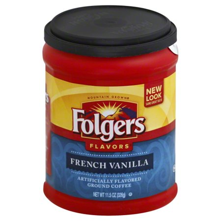 Folgers Flavors French Vanilla Ground Coffee, 11.5 - Orange Flavored Coffee