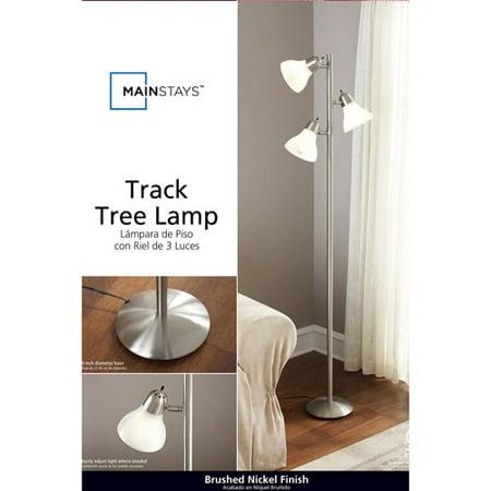 Mainstays track tree lamp brushed nickel walmartcom for Mainstays track tree floor lamp brushed nickel