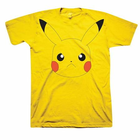 6ff7d9fe Freeze - Unisex-Adult Pokemon Angry Pikachu Face Yellow T-Shirt - 2X -  Walmart.com