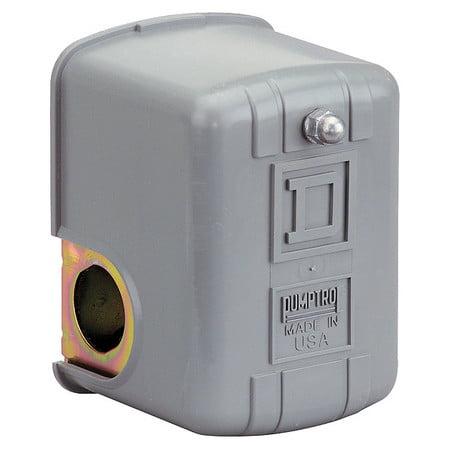 Pumptrol Pressure Switch, Diaphragm, DPST, 1/4FNPS SQUARE D ()