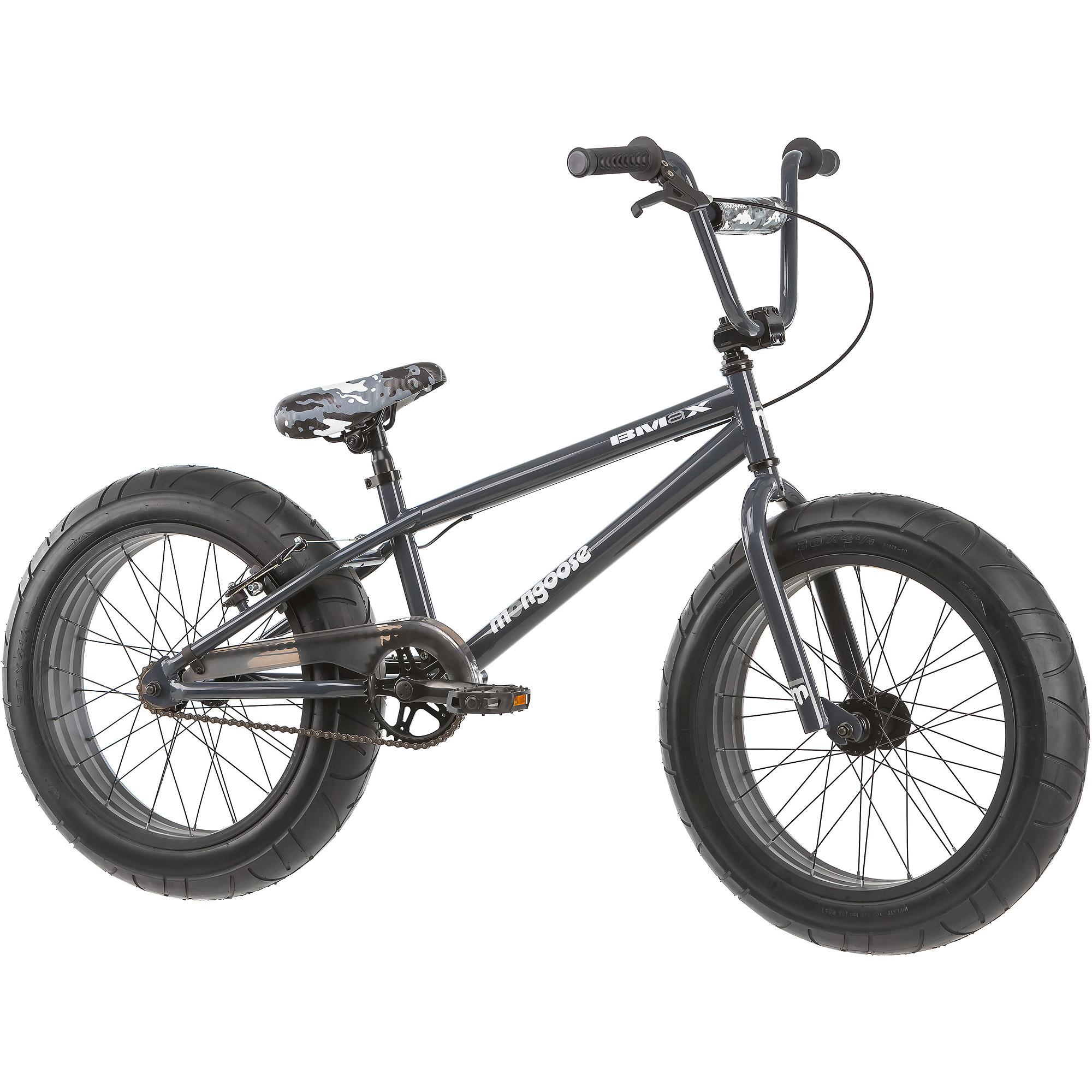 Pacific Cycle 20 Mongoose BMaX All - Terrain Fat Tire Mountain Bike, Black / Gray