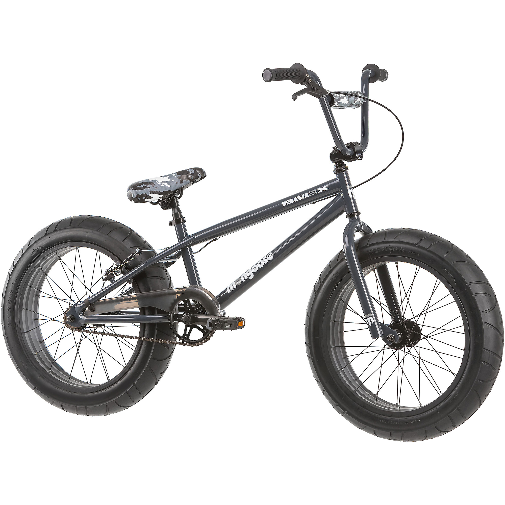 "20"" Mongoose BMaX All-Terrain Fat Tire Mountain Bike, Black/Gray"