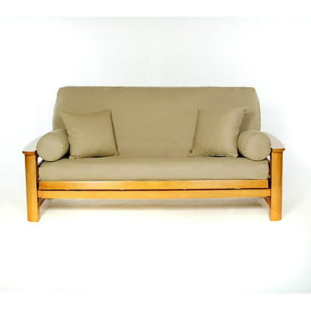 - Lifestyle Covers  Khaki Full-size Futon Cover