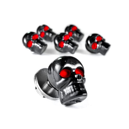 Custom Black Skeleton Skull Bolt Nuts Screws 6mm For Harley Davidson Police FLHP - image 2 of 6