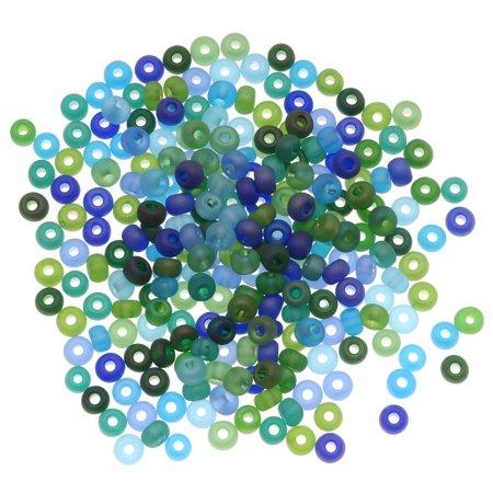 - Czech Seed Beads 6/0 'Matte Oceanic AB' Mix Blue Green (1 Ounce)