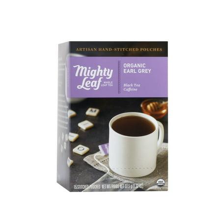 Mighty Leaf, Organic Earl Grey Stitched Tea Bags, 15 ct ()