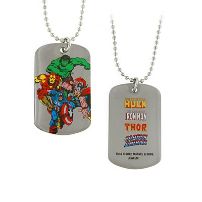 Silvertone Superhero Dog Tag