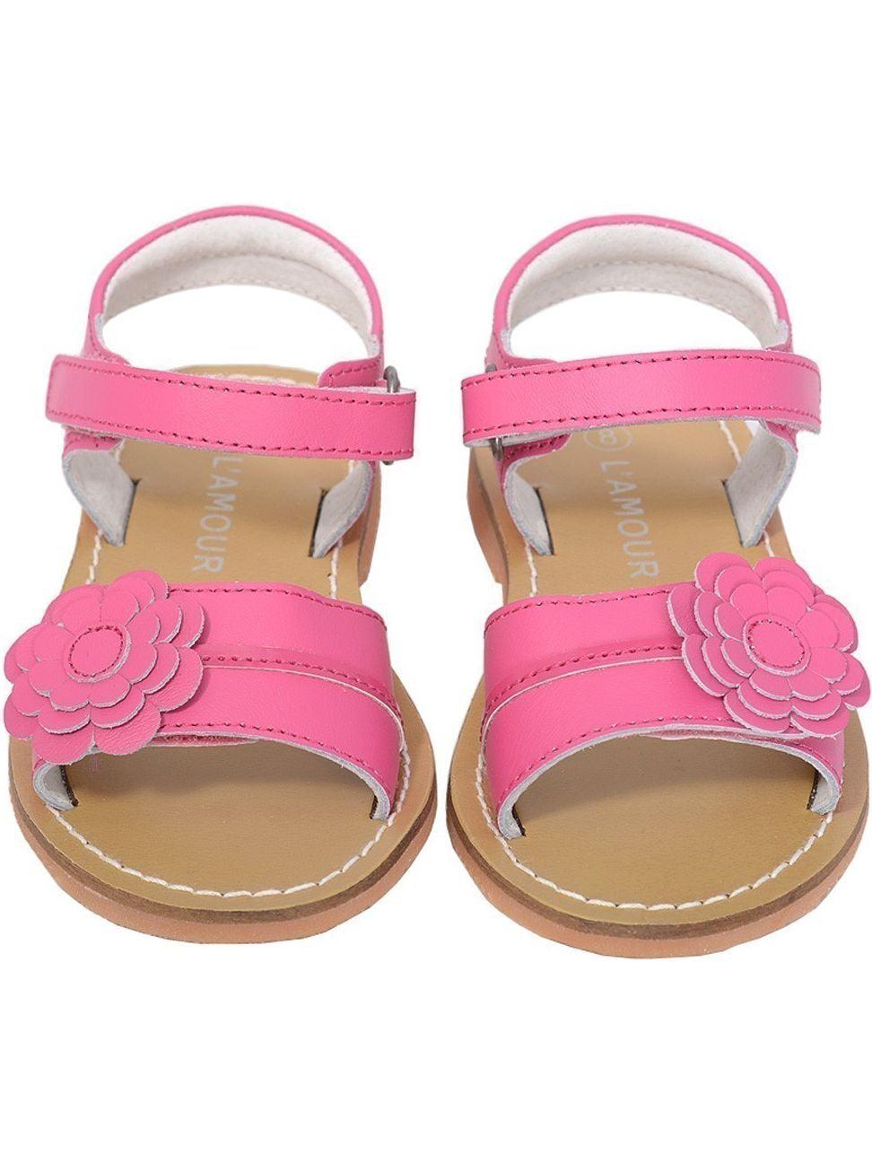L'Amour Fuchsia Flower Spring Summer Sandal Shoe Toddler Girl 5-10