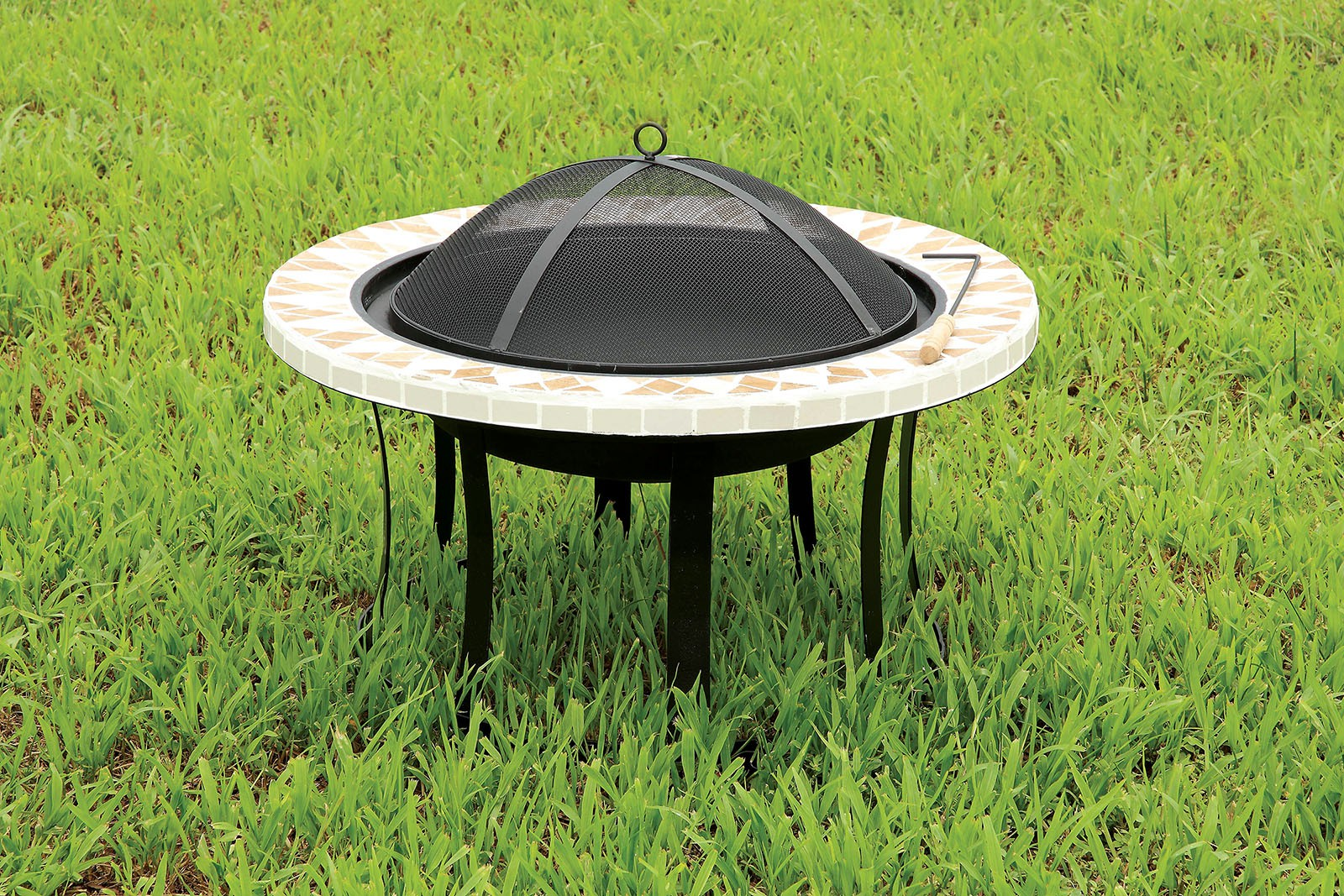 """1PerfectChoice Ammon Outdoor Patio 30"""" Round Firepit Fireplace Heater Burning Black... by 1PerfectChoice"""