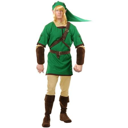 Adults Link The Elf Warrior Legends of Zelda Men's Costume - Link From Zelda Halloween Costumes