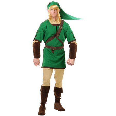 Adults Link The Elf Warrior Legends of Zelda Men's Costume