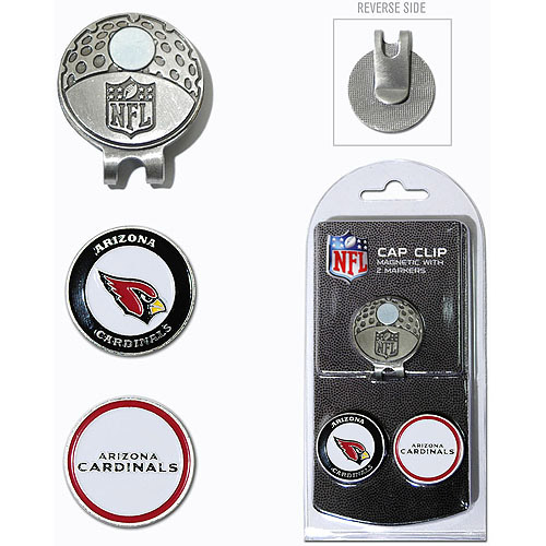 Team Golf NFL Arizona Cardinals Cap Clip With 2 Golf Ball Markers