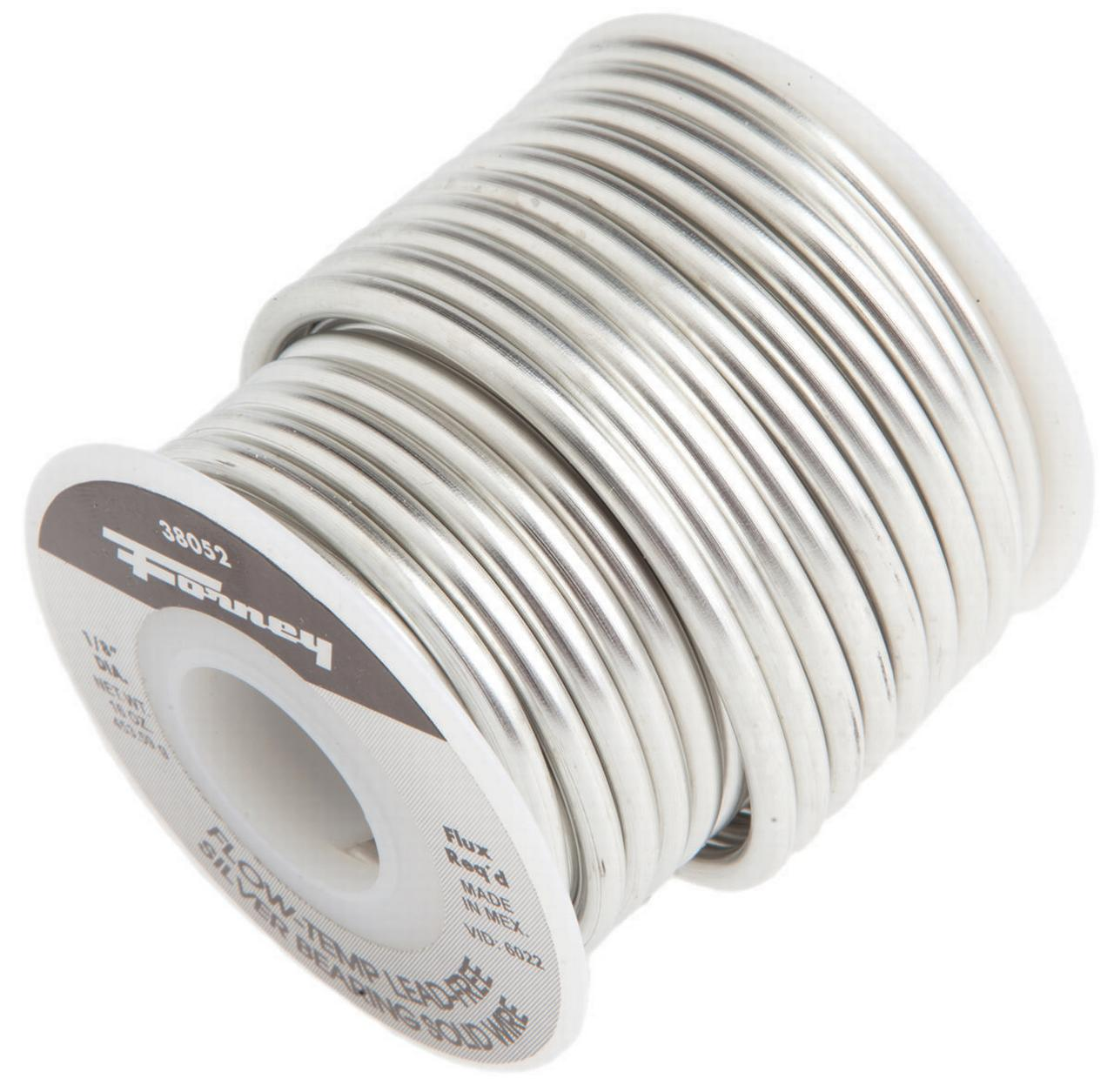 Forney 38052 Solid Core Solder, 1 lb Roll, Solid, Gray