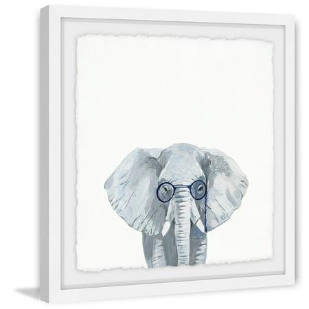 Genius Elephant Framed Painting Print - Walmart.com