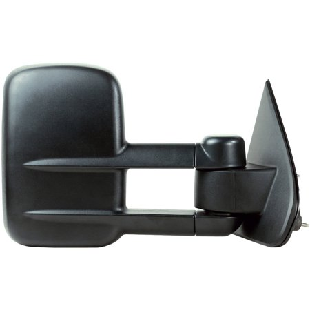 62137G - Fit System 14-17 Chevrolet Silverado Pick-Up Truck 1500, 2500, 3500, GMC Sierra 1500, 2500, 3500, extendable towing Mirror, OEM Style Towing, Passenger Side - check description for fitment