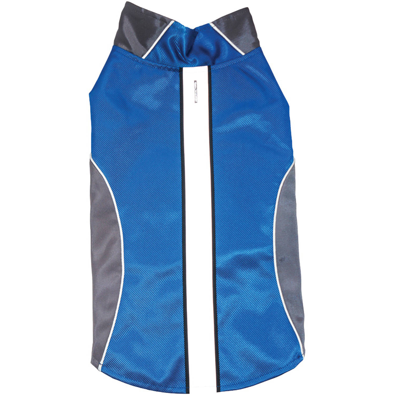 Royal Animals Water-Resistant Dog Raincoat with Reflective Stripes, Blue