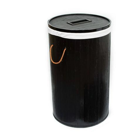 birdrock home collapsible laundry hamper natural round. Black Bedroom Furniture Sets. Home Design Ideas