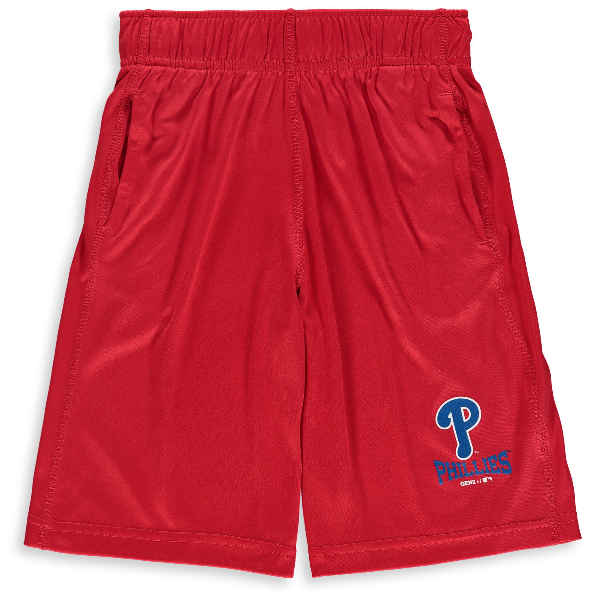 Philadelphia Phillies Youth Link Up Performance Shorts - Red
