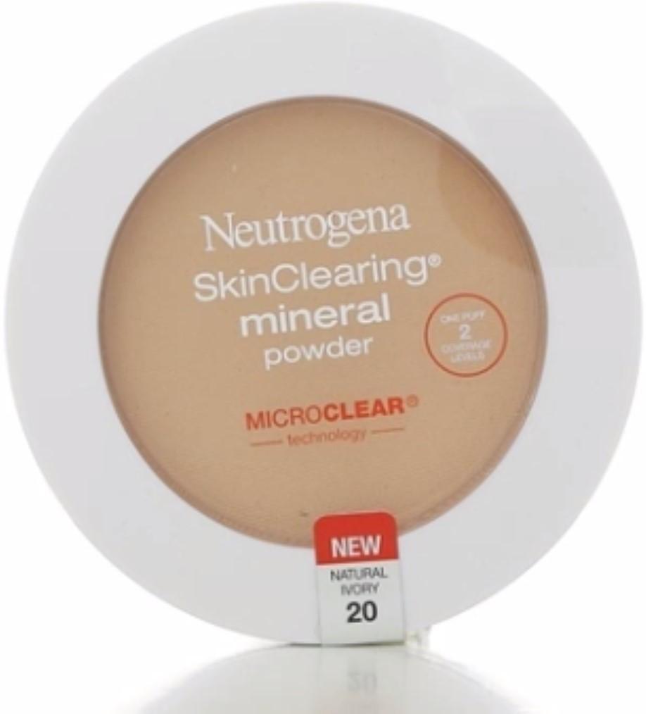 2 Pack - Neutrogena SkinClearing Mineral Powder, Natural Ivory [20], 0.38 oz