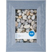 "Mainstays Ogunquit 4"" x 6"" Picture Frame, Blue, Set of 4"