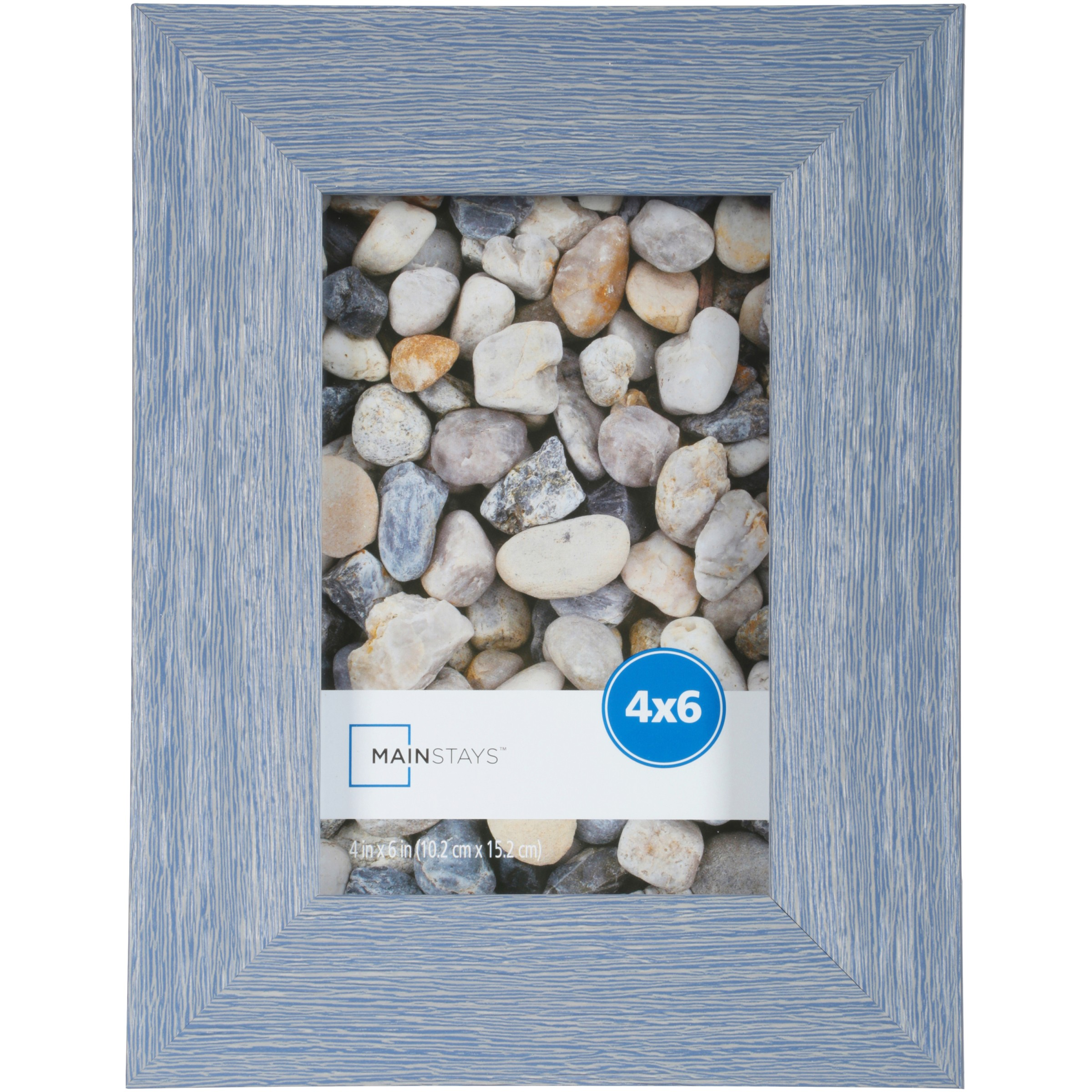 "Mainstays Ogunquit 4"" x 6"" Picture Frame, Blue, Set of 4"