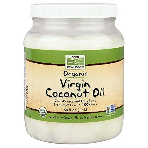 Now Foods Organic Coconut Oil Virgin 54 Oz (Pack Of 4)