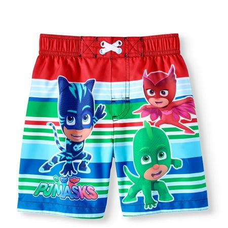 95cf442b2b PJ Masks - Toddler Boys' Swim Trunk Board Shorts - Walmart.com