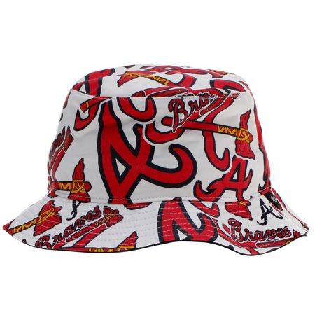 3a1b85e626b Atlanta Braves  47 Bravado Bucket Hat - White - Walmart.com