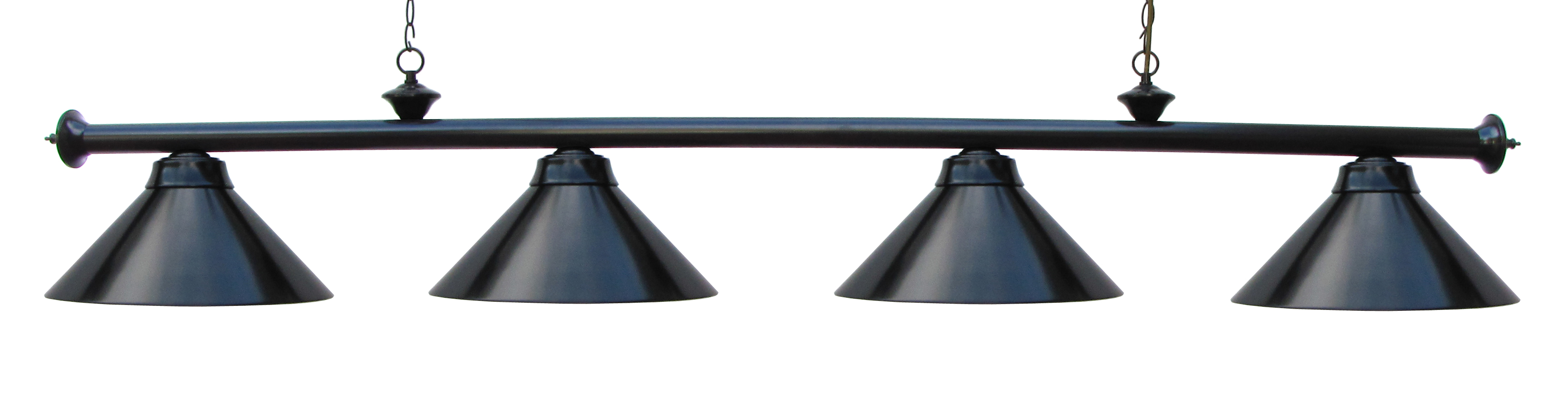"72"" Pool Table Light Pool Table Light Black With Metal Shades For 9' Table by"
