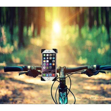 (Arc® Universal 360° Rotating Phone PGS Motorcycle Bicycle MTB Bike Handlebar Mount Holder Black)