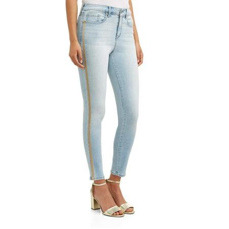 Rosa Curvy High Waist Side Stripe Ankle Jean -