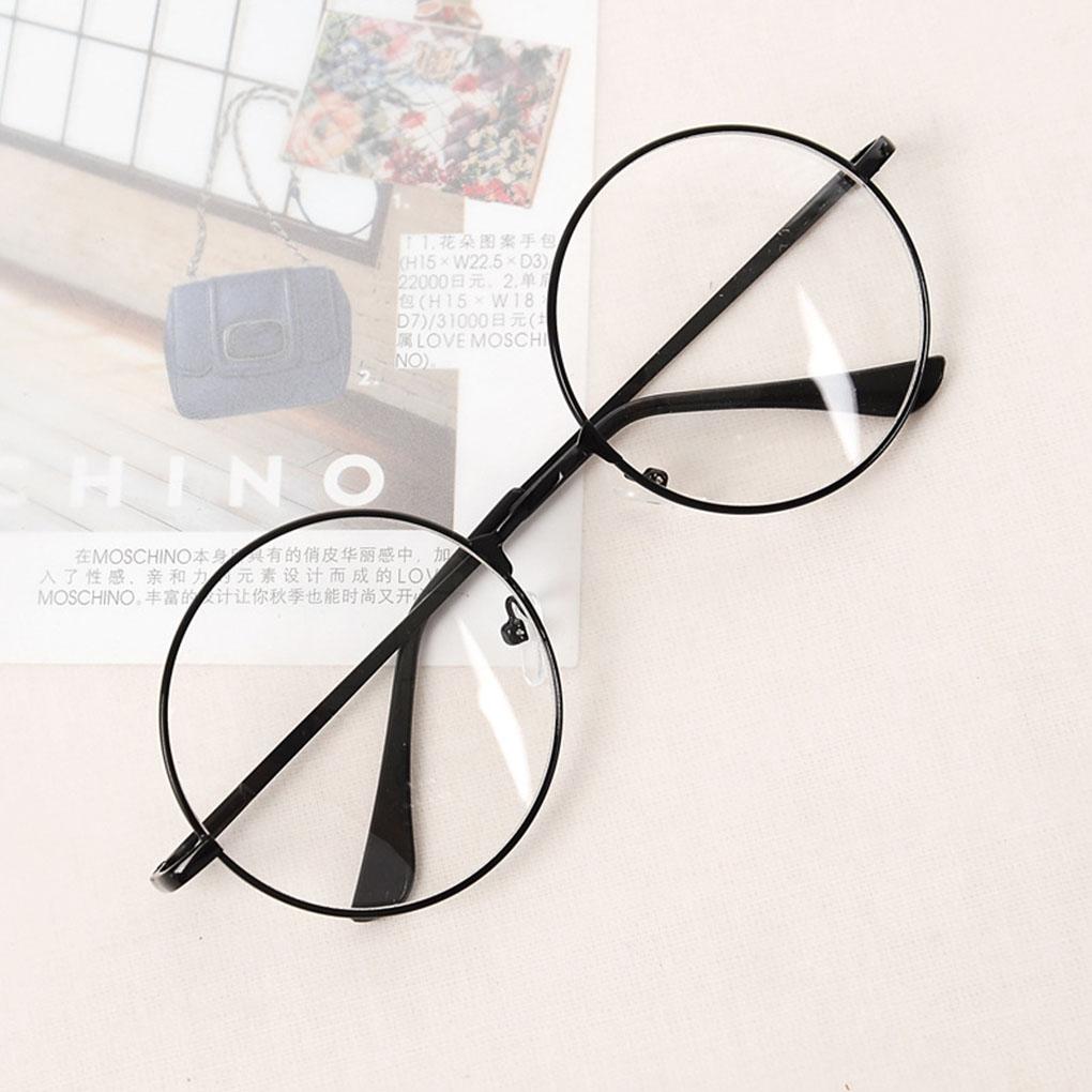 Men/&Women Retro Glasses with clear lens Metal Frame