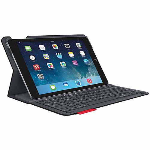 Accesorio Para Tablet Logitech tipo + funda protectora con teclado integrado para Apple iPad aire, negro + Logitech en Veo y Compro