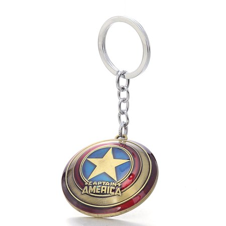 The Avengers Marvel Movie Comics Captain America Shied Metal Key Chain